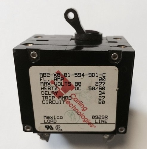 Newmar 50 Amp Double Pole Breaker W/ Black Throw