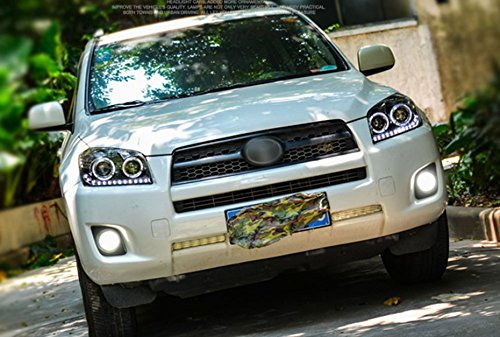 GOWE Car Styling Car Styling For toyota RAV4 headlights 2009-13 For RAV4 LED head lamp Angel eye led DRL front light Bi-Xenon Color Temperature:4300K Wattage:35W 3