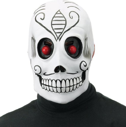 [Day of the Dead Mask Groom Adult] (Dead Groom Costume)