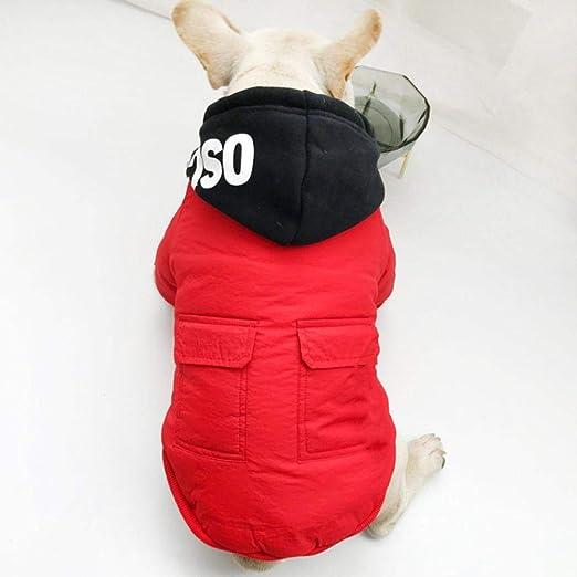 Algodón menso Bulldog Dog rojo