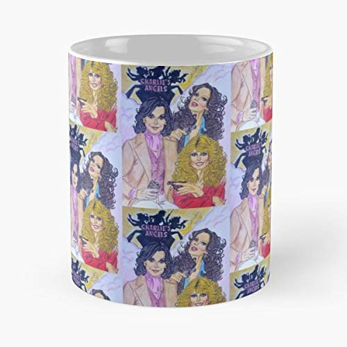 Charlies Angels Farrah Fawcett Jaclyn Smith Kate Jackson - Handmade Funny 11oz Mug Best Birthday Gifts For Men Women Friends Work Great Holidays Day Gift (Farrah Fawcett Best Friend)