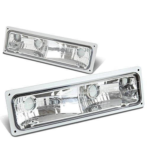 For Chevy/GMC C10 C/K-Series Bumper Light Lamps (Chrome Housing)