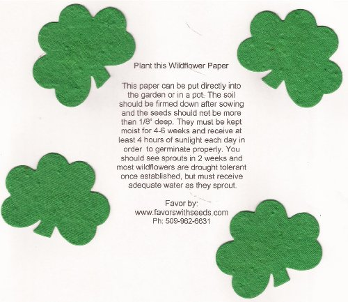 - 16 Small Plantable Shamrock Shapes in a Bag
