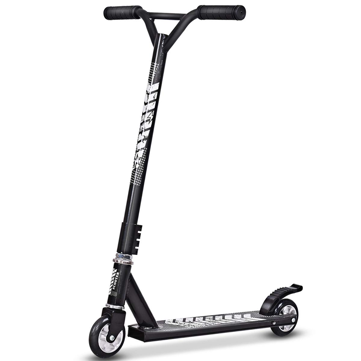 Goplus Stunt Scooter, 2 Wheels Aluminum Scooters Freestyle for Kids Adults Black by Goplus