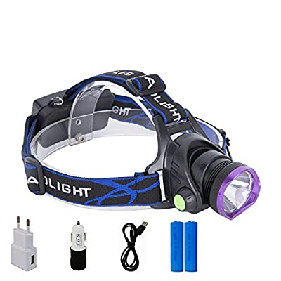 Glighone Lampe Frontale Led Rechargeable Super Puissante 2200 Lumens