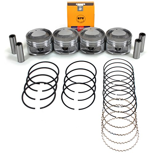 NEW PS3600PR (STD Size) Engine Pistons and NPR Rings Kit for 97-04 Ford Focus Escort 2.0L 121 SOHC VIN