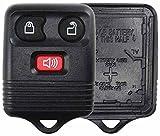 keyless remote ford f150 2005 - KeylessOption Just the Case Keyless Entry Remote Key Fob Shell Replacement - Black