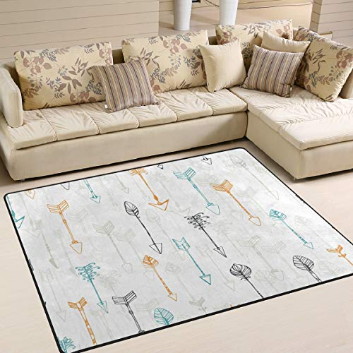 ALAZA Ethnic Colorful Arrow Area Rug Rugs for Living Room Bedroom 5'3