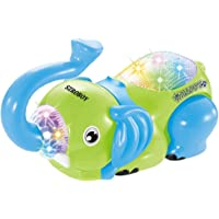 2-OYSS Electronics Pets,360 Degree Roll Elephant Toys,Electronics for Kids with Colorful Lights and Musical Sound,Kids Toys for 1-6 Year Old (Random Blue,Green)(Pack of 1)