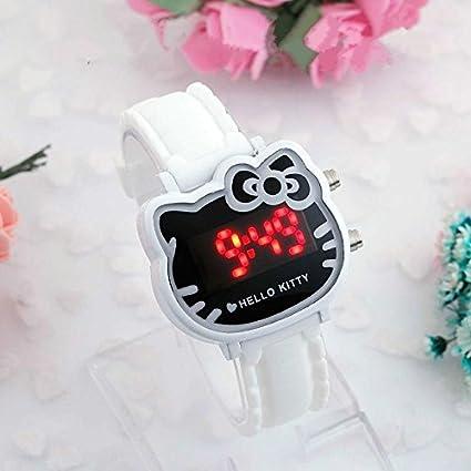 AAIND - Reloj de Pulsera para niña, diseño de Gato de Dibujos Animados, Color