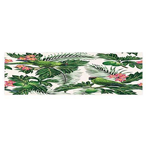 (Dragonhome Aquarium Decorative tropicalwith Leaves Fruits Flowers and Birds Breadfruit Palm Plumeria Aquarium Background Sticker Wallpaper L23.6 x)