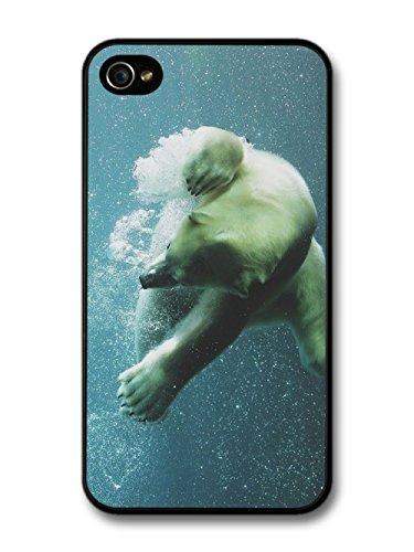 Diving Through Bubbles Polar Bear coque pour iPhone 4 4S
