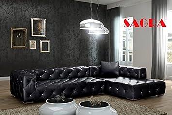 Cool New Leather Large Corner Sofa Bastia Modern Design 2 3 Beatyapartments Chair Design Images Beatyapartmentscom