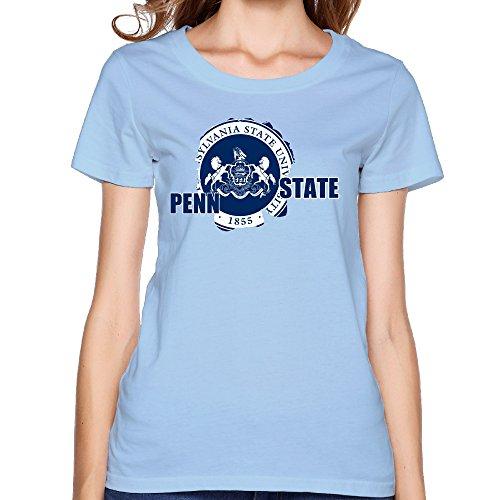 VOLTE Pennsylvania State University Women's Vintage Tee XL SkyBlue