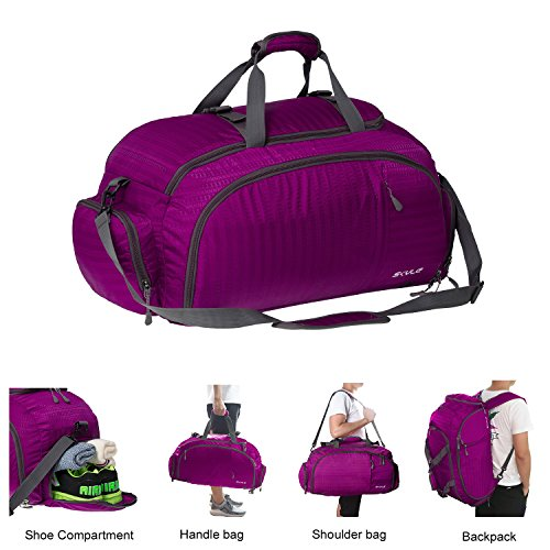 3-Way Travel Duffel Backpack Travel Luggage Gym Sports Bag with Shoe Compartment for Men and Women