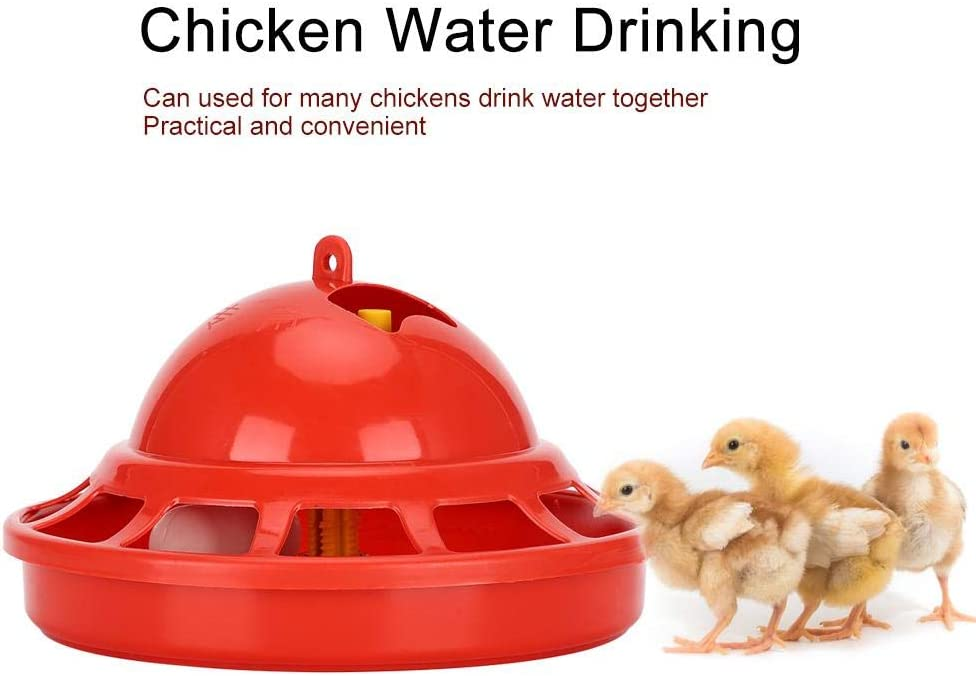 2PCS Chicken Automatic Drinker Plastic Chick Water Drinking Cup Bowl Birds Pigeons Drinking Dispenser 360/° Duck Water Feeder Poultry Watering Cups