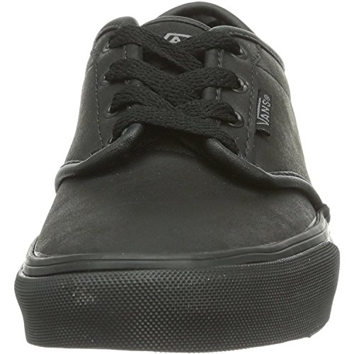 Vans Atwood Youth Triple Black Leather Trainers Triple Black