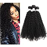 Demao 7A Brazilian Virgin Curly Hair Weave 3 Bundles 100% Unprocessed Jerry Curly Human Hair Extensions Natural Color 95-100g/Bundle (12 14 16inch) For Sale
