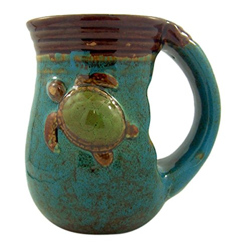 Cape Shore Handwarmer Coffee Cup with Summer Seas Turtle Design, 18 Ounce - Beach Theme Coffee