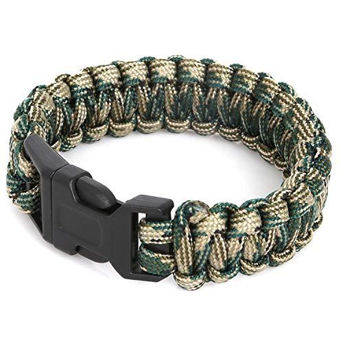 Paracord Bracelet Rope Whistle Buckle Kit Wristbands for Men & Women ()