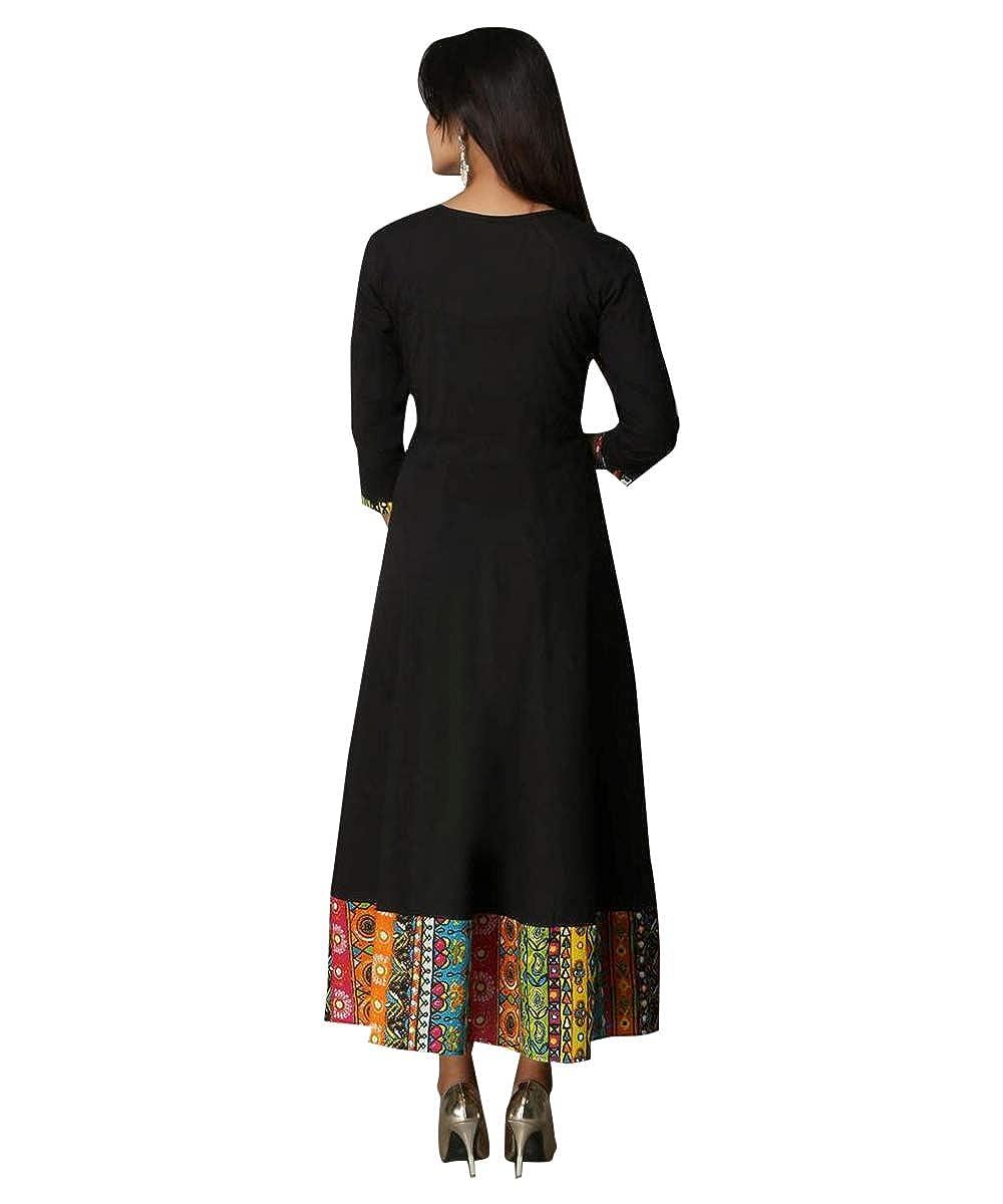 Black Color Rayon Pleated Kurta