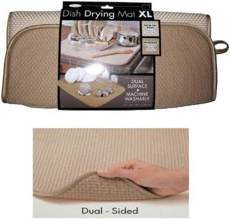 The Original™ Dish Drying Mat XL Microfiber, Absorbent, Machine Washable, Fast Drying 18
