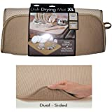 "The OriginalTM Dish Drying Mat XL Microfiber, Absorbent, Machine Washable, Fast Drying 18""X24"" DUAL SURFACE (TAN)"