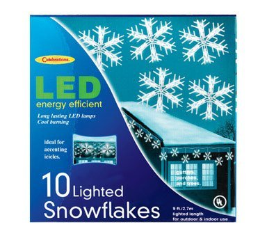 LED SNOWFLAKE10CT by CELEBRATIONS MfrPartNo 264G49A1 by Celebrations Lighting