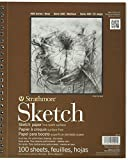 Strathmore ANST455-3X3 455-3 Drawing & Sketch Paper, 3 Pack, White