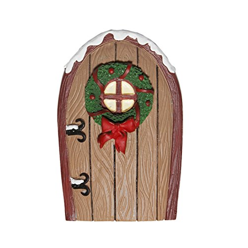 Giftcraft Mini World Holiday Fairy Door (Brown)