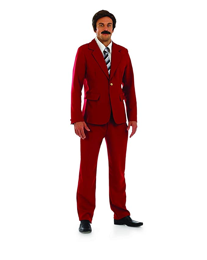 70s Costumes: Disco Costumes, Hippie Outfits fun shack Mens 70s Newsreader Movie Costume Comedy Film Burgundy Suit Outfit $29.95 AT vintagedancer.com