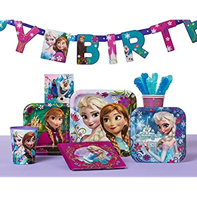 American Greetings Frozen Birthday Party Banner, 1-Count, Hinged Banner: Toys & Games