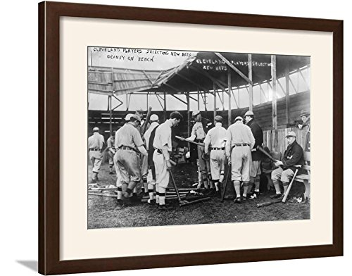 ArtEdge Indians Choose Bats, Baseball Photo-Cleveland, OH Art Print Framed, 29