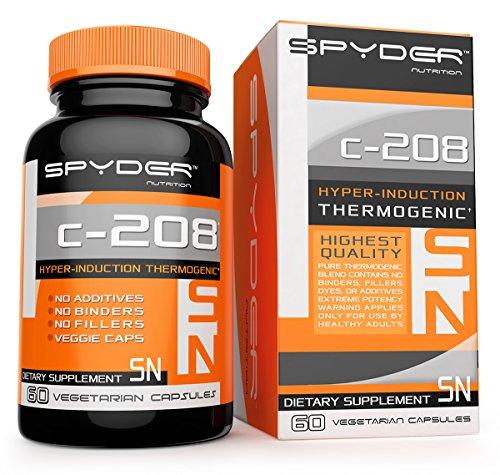 Pill Spyder C-208 thermogénique alimentation, un Hyper-induction Fat Burner pour la perte de poids rapide