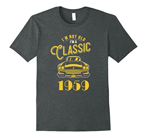Mens American Muscle Car Guy Shirts Classic 1959 Gift XL Dark Heather
