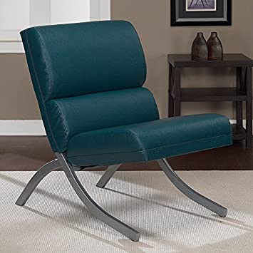 Magnificent Amazon Com Metro Shop Rialto Teal Bonded Leather Upholstery Alphanode Cool Chair Designs And Ideas Alphanodeonline