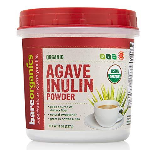 - BAREORGANICS Agave Inulin Powder, 8 Ounce