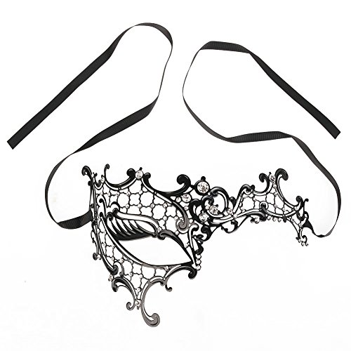 [Masquerade Filigree Mask, Sexy Women Mask Metal Series Diamond Green Material for Masquerade Ball Mardi Gras Halloween Costume Party New Year's Party Mask] (Peeling Face Costume)