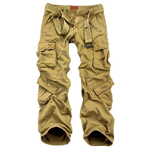 OCHENTA Men's Outdoor Wild Military 8 Pockets Cargo Pant