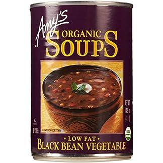 Low Fat Black Bean Veggie Soup by Amy's Kitchen, 14.5 oz