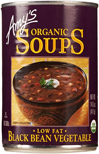 Low Fat Black Bean Veggie Soup by Amy's Kitchen, 14.5 oz