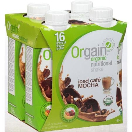 Orgain Iced Cafe Mocha Organic Nutritional Shake, 44 fl oz, (Pack of 3) (Cafe Express Cafe Mocha)