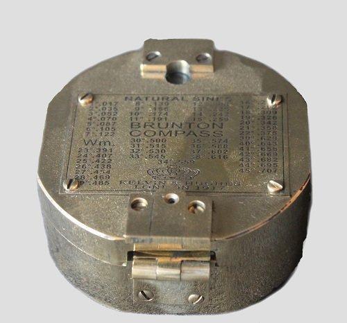 真鍮Brunton Compass 1917年アンティーク真鍮Brunton地質コンパスギフトアイテムV