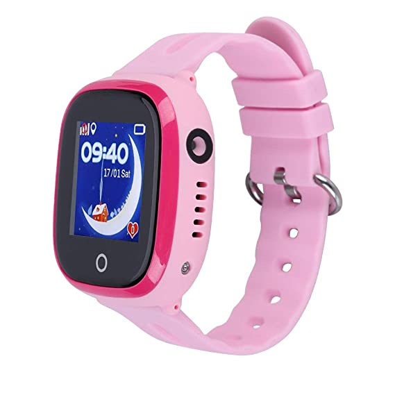 Bewinner Waterproof GPS Smart Watch, IP67 Life Waterproof, Four-Band GSM Four-Way Call, SOS for Help, iOS/Android Child Smartwatch(Pink) …