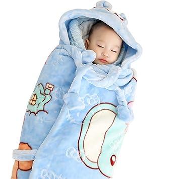 Envolver Recién Nacido Sábana Bajera Saco De Dormir Regalo Algodón Cómoda Tela Suave para Cuidar El Sueño De Su Bebé,Blue: Amazon.es: Deportes y aire libre