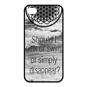 iPhone 4/4S Case, Bring Me The Horizon Hard TPU Rubber Snap-on Case for iPhone 4 / 4S
