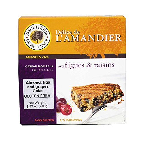 Biscuiterie de Provence, Almond Cake with Figs and Grapes, Gluten Free (8.47 oz) by Biscuiterie de Provence