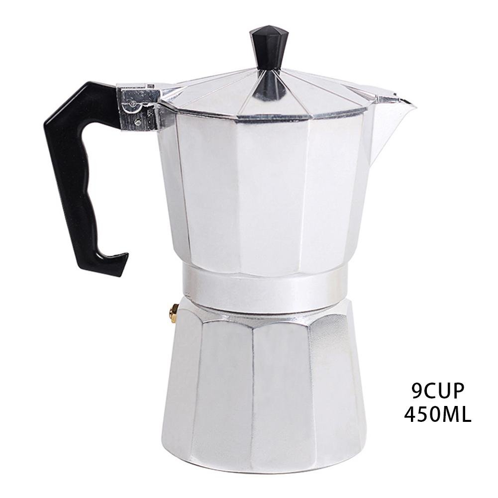 Octagonal Household Classic Aluminum 1//3//6//9//12 Cup Latte Mocha Coffee Pot Moka Pot Stove with Filter Funnel for Full Bodied Stove Top Coffee Italian Coffee Maker//Pots