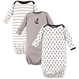 Luvable Friends Unisex Baby Cotton Gowns, Boy Nautical, 0-6 Months