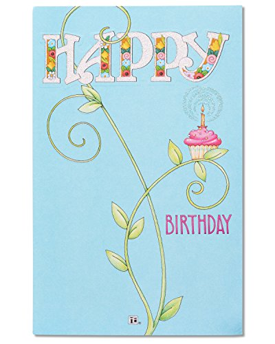 American Greetings Your Day Floral Birthday Card with Glitter